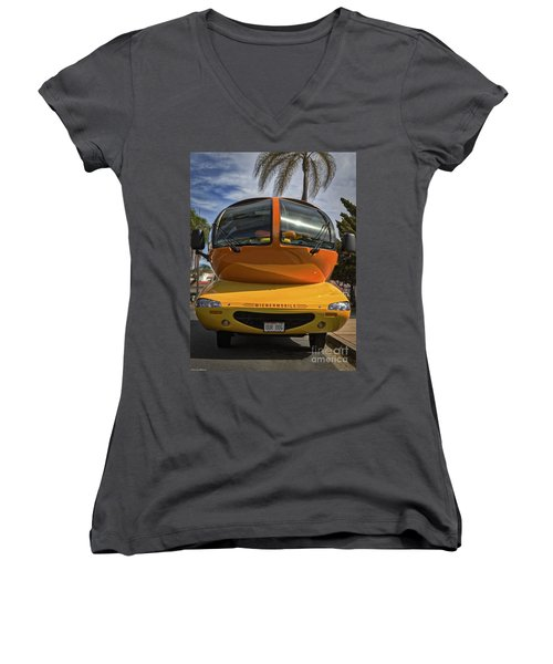 The Wienermobile Women's V-Neck (Athletic Fit)