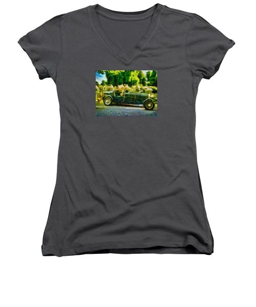 The Wind In My Hair Women's V-Neck (Athletic Fit)