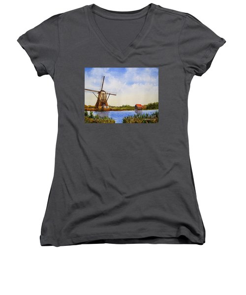 The Windmill Women's V-Neck (Athletic Fit)