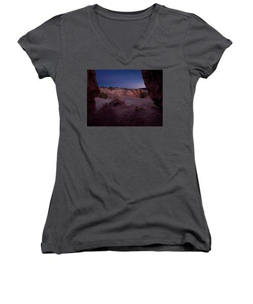 The Window In Desert Women's V-Neck