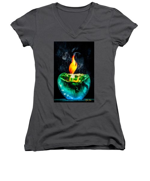 The Winter Of Fire And Ice Women's V-Neck