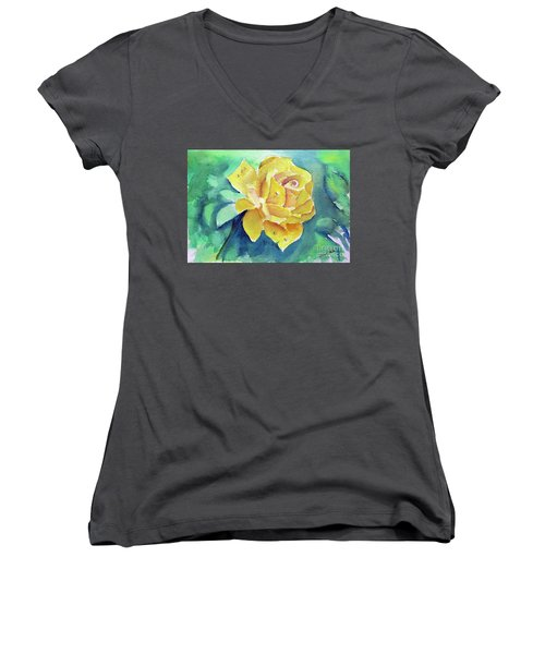 The Yellow Rose Women's V-Neck