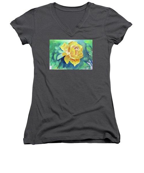 The Yellow Rose Women's V-Neck T-Shirt
