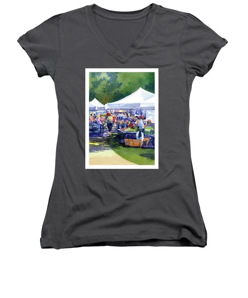 Theinsville Farmers Market Women's V-Neck (Athletic Fit)
