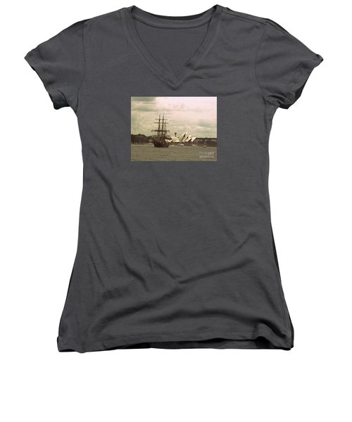 Now And Then Women's V-Neck (Athletic Fit)