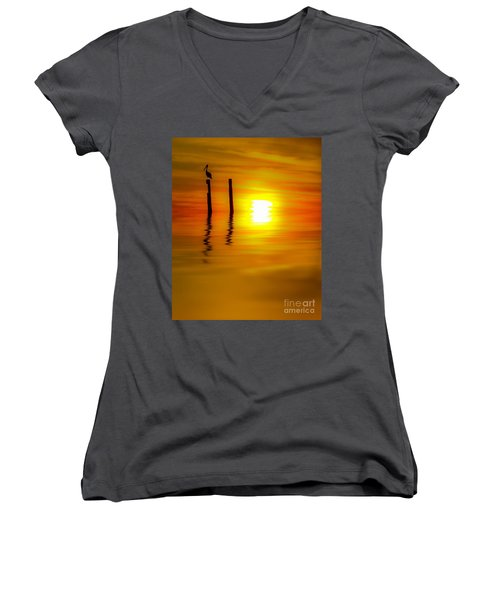 There Are Moments Women's V-Neck T-Shirt (Junior Cut) by Kym Clarke