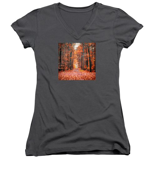 Thetford Forest Women's V-Neck (Athletic Fit)