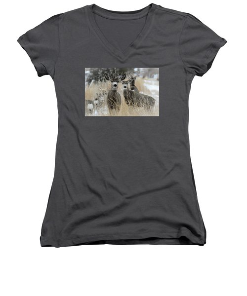 They Guided Him To Heaven Women's V-Neck (Athletic Fit)