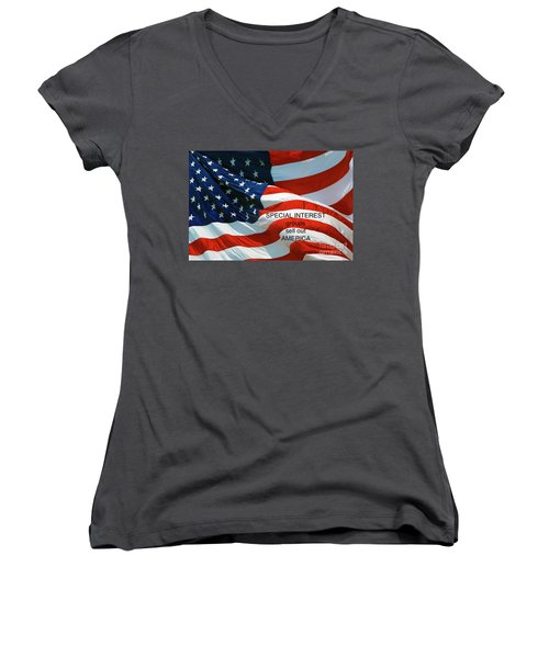 Women's V-Neck T-Shirt (Junior Cut) featuring the photograph They Sell Us Out by Paul W Faust - Impressions of Light
