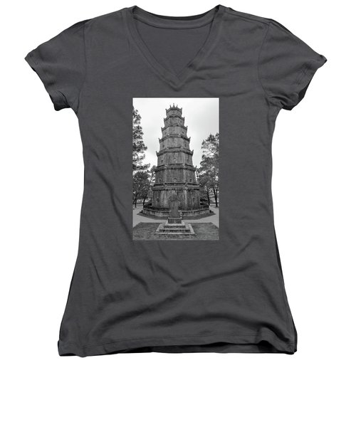 Thien Mu Pagoda Women's V-Neck