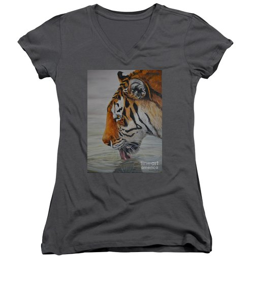 Thirsty Women's V-Neck (Athletic Fit)