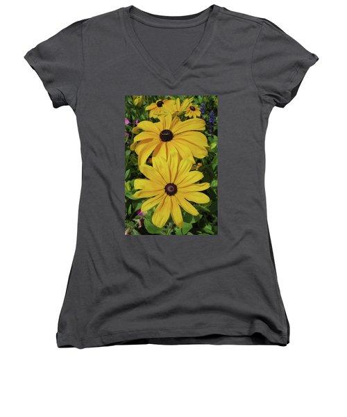 Women's V-Neck T-Shirt (Junior Cut) featuring the photograph Thirteen by David Chandler
