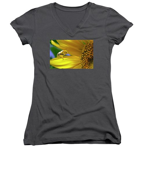 This Bee Needs A Bath Women's V-Neck (Athletic Fit)