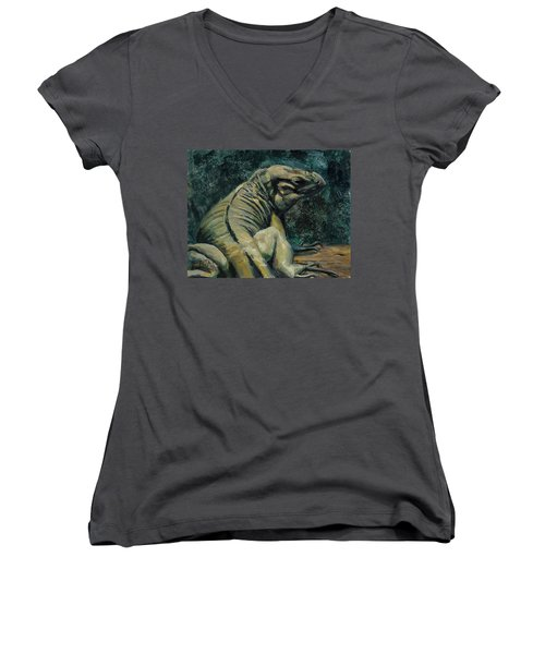 This Is My Good Side Women's V-Neck T-Shirt (Junior Cut) by Billie Colson