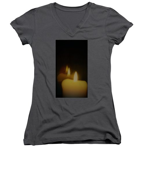 This Little Light Of Mine Women's V-Neck T-Shirt (Junior Cut) by John Glass