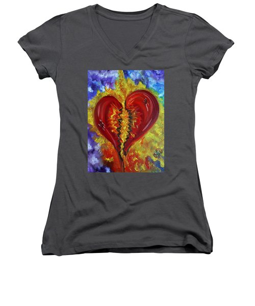 This Old Heart Of Mine Women's V-Neck (Athletic Fit)