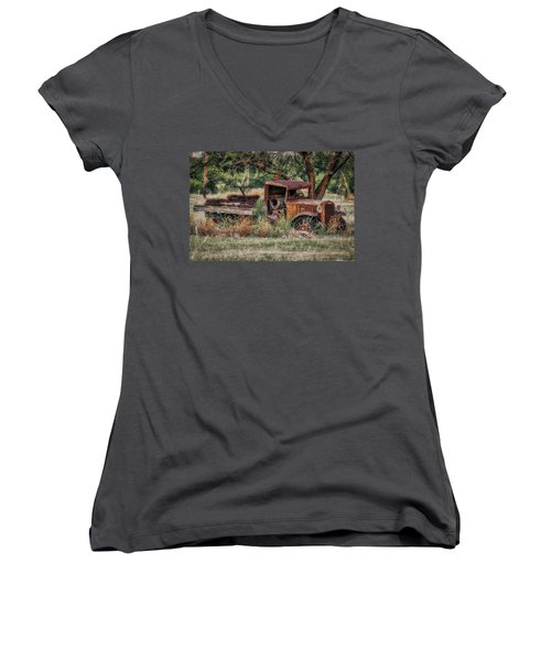 This Old Truck Women's V-Neck (Athletic Fit)