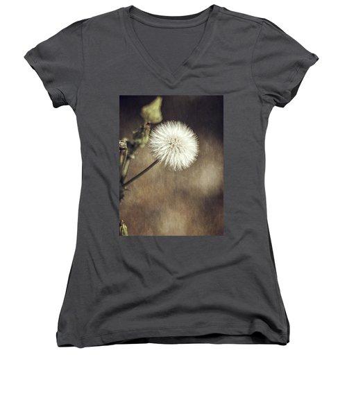 Thistle Women's V-Neck T-Shirt (Junior Cut) by Carolyn Marshall