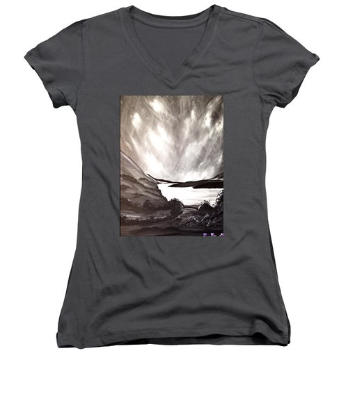 Thistle Do Nicely Women's V-Neck T-Shirt (Junior Cut) by Scott Wilmot