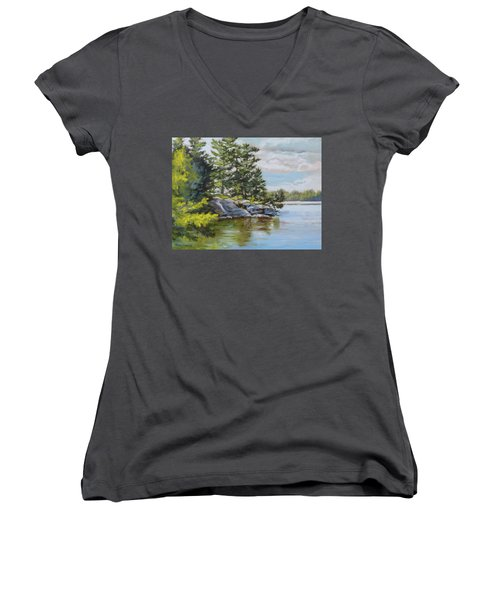 Thousand Islands Women's V-Neck (Athletic Fit)