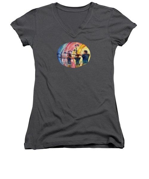 Three 10s Women's V-Neck T-Shirt (Junior Cut) by Hailey E Herrera