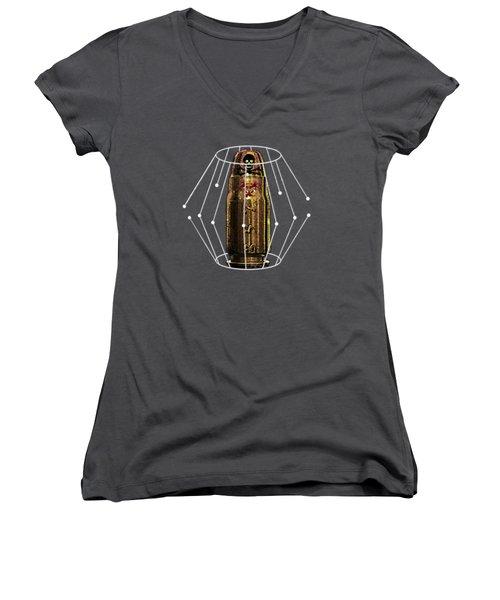 Three Fifty Seven Sig Women's V-Neck T-Shirt (Junior Cut) by Iowan Stone-Flowers