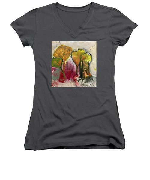 Three Trees Women's V-Neck T-Shirt