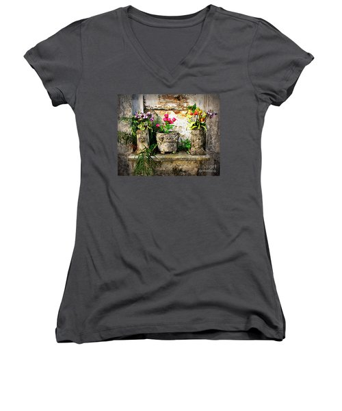 Three Vases Women's V-Neck T-Shirt