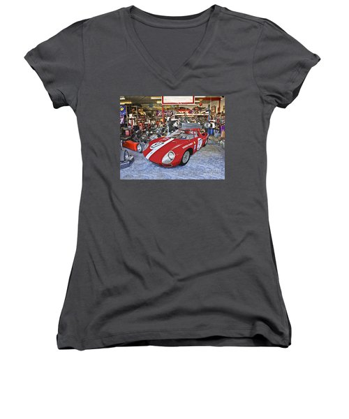 Throphy Car Women's V-Neck (Athletic Fit)