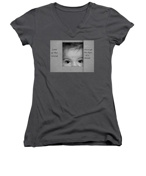 Through The Eyes Of A Child Women's V-Neck