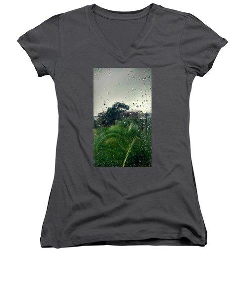 Through The Looking Glass Women's V-Neck T-Shirt (Junior Cut)