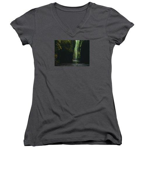 Through The River Women's V-Neck T-Shirt