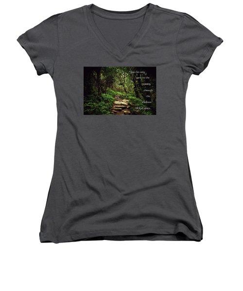 Through The Shadows Women's V-Neck T-Shirt (Junior Cut) by Jessica Brawley