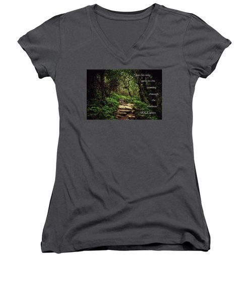 Through The Shadows Women's V-Neck (Athletic Fit)
