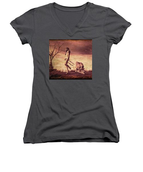 Through The Valley  Women's V-Neck (Athletic Fit)