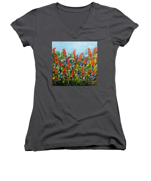 Through The Wild Flowers Women's V-Neck