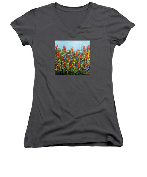 Through The Wild Flowers Women's V-Neck (Athletic Fit)