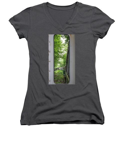 Through The Window Women's V-Neck (Athletic Fit)