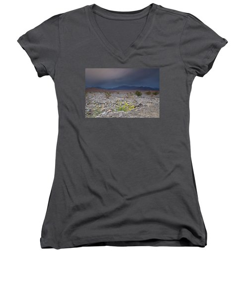 Thunderstorm Over Death Valley National Park Women's V-Neck