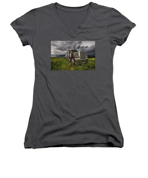 Thunderstruck Women's V-Neck T-Shirt