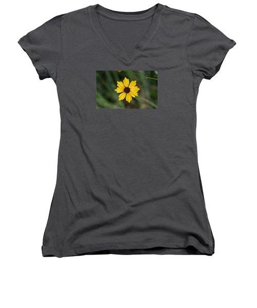 Tickseed Flower Women's V-Neck T-Shirt