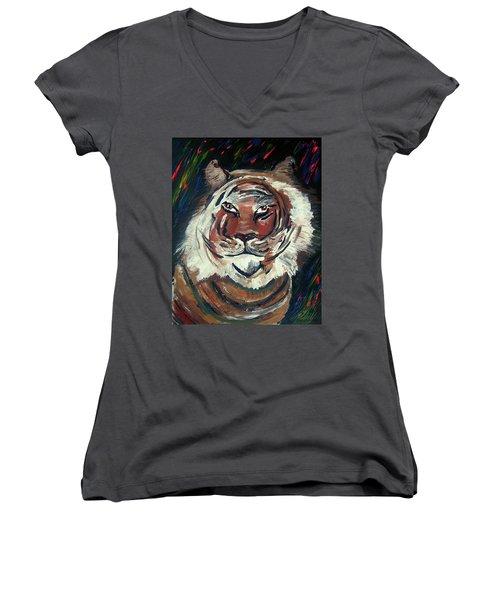 Tiger Women's V-Neck