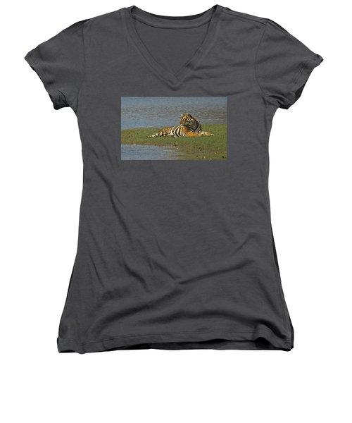 Tigress Women's V-Neck T-Shirt