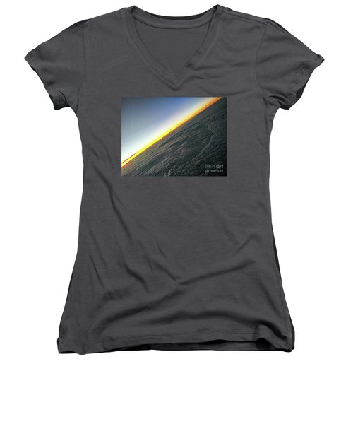 Women's V-Neck featuring the photograph Tilt Horizon by Robert Knight