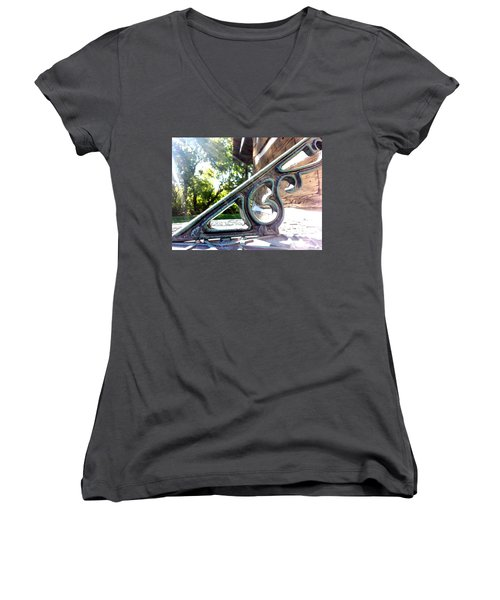 Women's V-Neck featuring the photograph Time At An Angle by Robert Knight