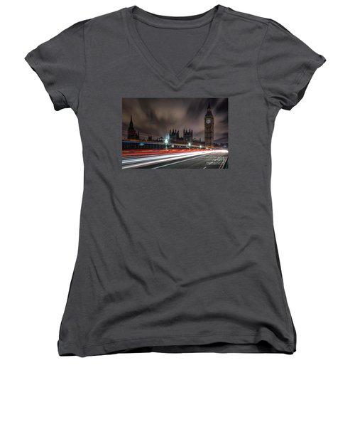 Time Women's V-Neck T-Shirt (Junior Cut) by Giuseppe Torre