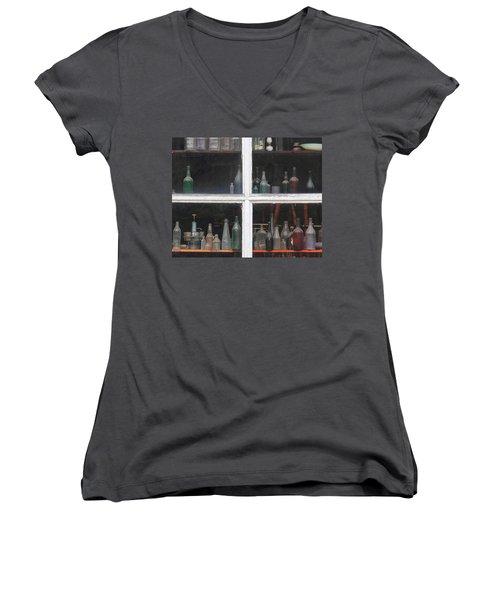 Time In A Bottle Women's V-Neck (Athletic Fit)