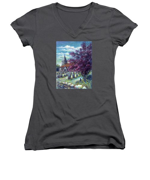 Time Our Companion Women's V-Neck
