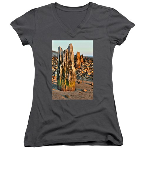 Time Stands Still Women's V-Neck T-Shirt