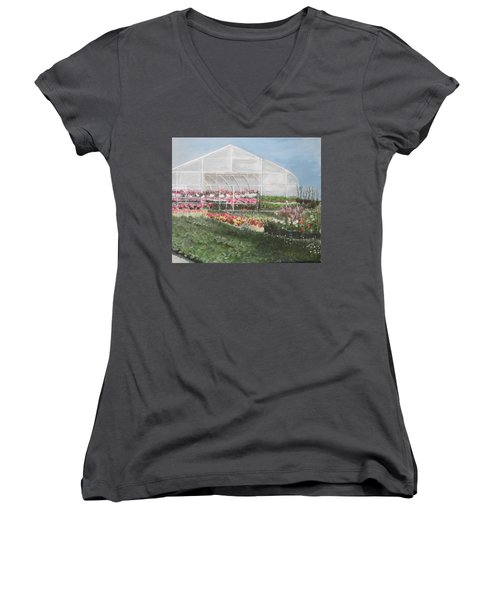 Time To Plant Women's V-Neck (Athletic Fit)